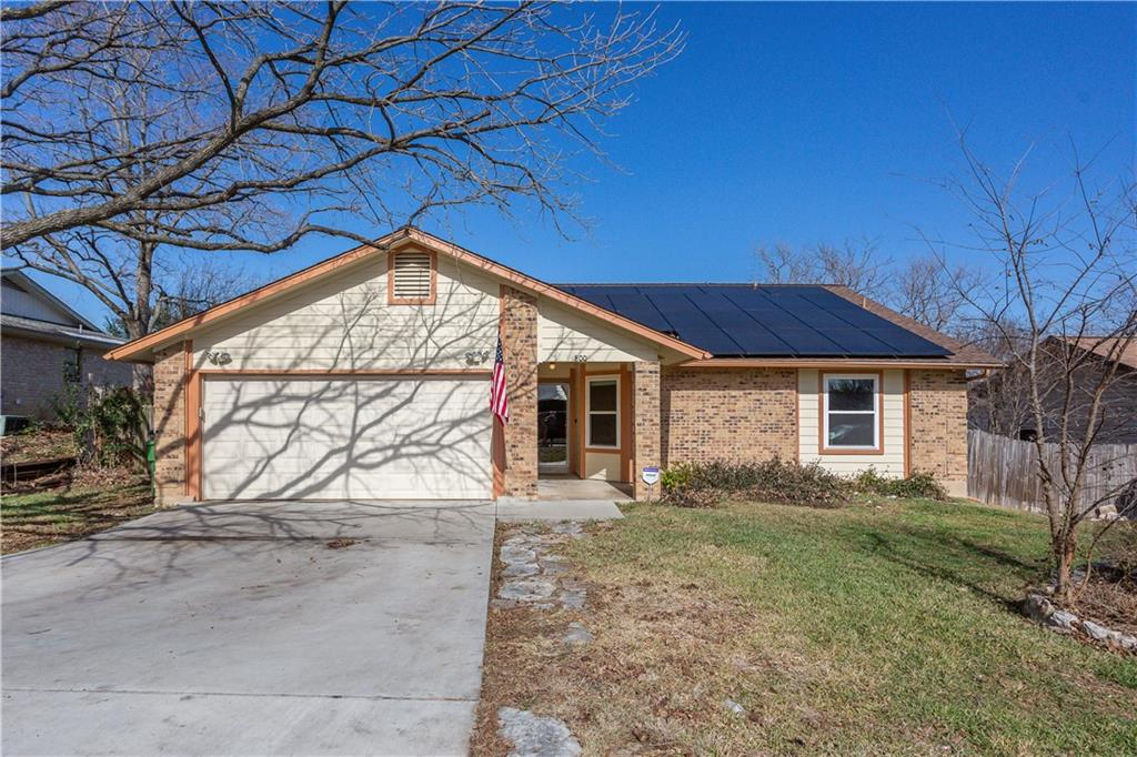 Beautiful home in Round Rock.  New Energy Efficient windows.  New oven and cooktop on order, to be installed prior to closing.  Roof is only 3 years old.  Solar Panels that have reduced the electric cost by 50%.  Buyer will have to assume Solar Panels prior to closing.  Come one, come all, it won't last long!