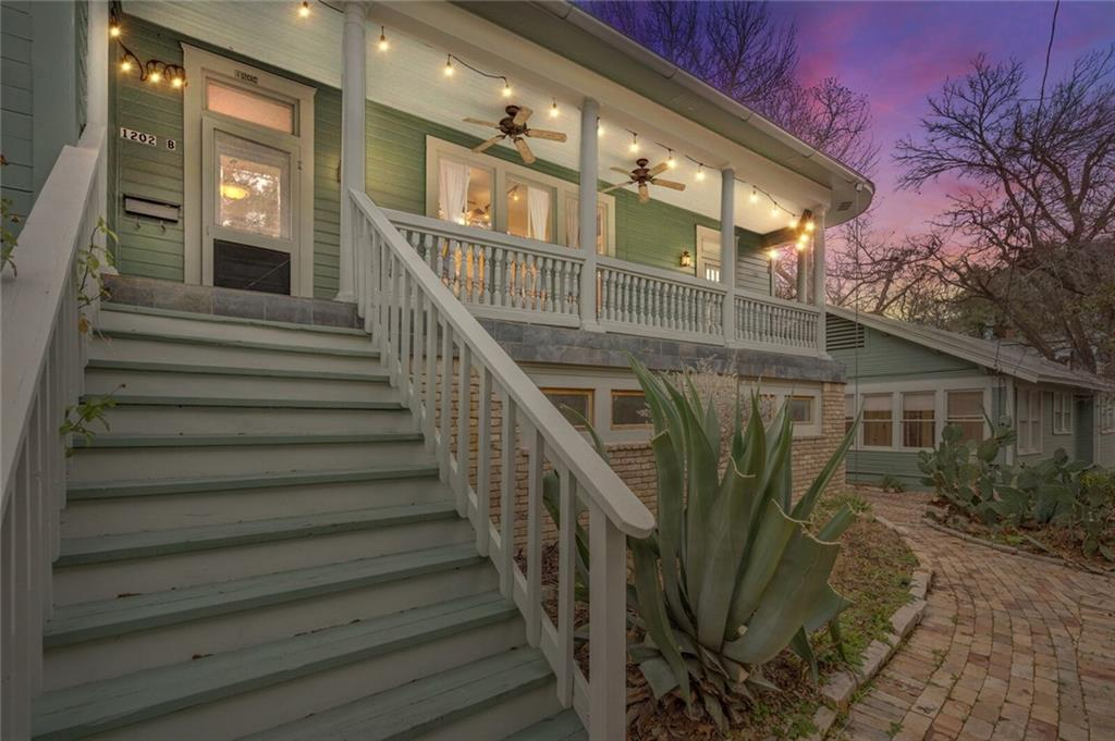 A charming and iconic Clarksville bungalow home with detached duplex and separate three car garage with apartment is just steps away from Old West Austin's most sought after dining, shopping and only moments from downtown. The property, zoned as a multi-family property (MF-4-HD-NP), offers an array of possibilities to and consists of 4 separate units which include an iconic detached single family bungalow home located at 900 Blanco, a detached split level duplex at 1202 West 9th Street that also features a detached 3 three garage with an additional apartment above. The single family bungalow located at 900 Blanco is conveniently situated on the corner of Blanco and West 9th and offers approximately 1509 square feet of living space, 2 bedrooms, 2 full bathrooms, updated appliances, and is ready to call home. The duplex located at 1202 West 9th Street is a beautiful Victorian split-level duplex. Unit A offers approximately 953 square feet of living space, 2 bedrooms and 2 bathrooms and laundry in unit. Unit B is a 3 bedroom 2 bathroom offering approximately 1426 square feet offering formal living, dining, laundry and ensuite master bedroom, and private veranda. Both units feature Victorian elements throughout along with beautiful stained glass windows inducing a timeless sense of nostalgia. The detached garage features three parking spaces along with an above apartment. The apartment is ready for an update and offers approximately 571 square feet. It is currently configured as a 1 bedroom 1 bathroom. All three properties are located on the same lot which is approximately .2181 acre lot and a part of the Castle Hill Historic District. (NOTE: The information contained herein is furnished by the owner to the best of their knowledge but is subject to verification by the buyer.)