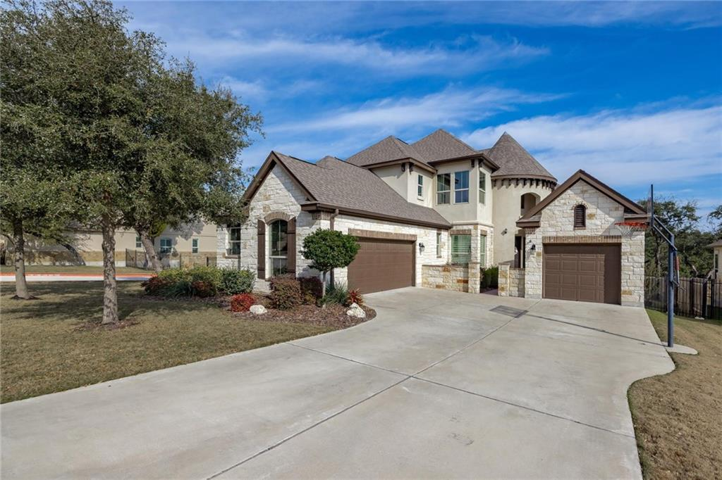 Prime LOCATION! Close to Apple, eBay, PayPal, Electronic Arts (EA) and many other tech companies. Brushy Creek Park directly across the street from the neighborhood. Easy access to 183, 183A toll road and Parmer Lane.  This better than new home is waiting for you to move right in. This 5 bedroom home with an office and media room has been beautifully maintained. Hardwood floors. Curved staircase. 2 bedrooms on first floor and an additional 3 bedrooms on the second floor.   Lots of space on a corner lot adjacent to non-thru, emergency access only gate. Open and bright with a grand entry and curved staircase. Integrated double garage and separate detached third car garage. Home benefits from many smart features including Nest Hello doorbell, Nest thermostats, Rachio smart sprinkler system, smart switches and dimmers on first floor, touch screens.  Beautiful kitchen featuring a large center island, granite countertops, built in double oven, microwave, dishwasher and disposal.  Master bedroom is large and bright with extended bay windows. Master bath features a garden tub, frameless spa shower, double vanities and granite countertops. His and hers closet space.  Small community which benefits from amenities normally only associated with larger neighborhoods such as pool and play area.