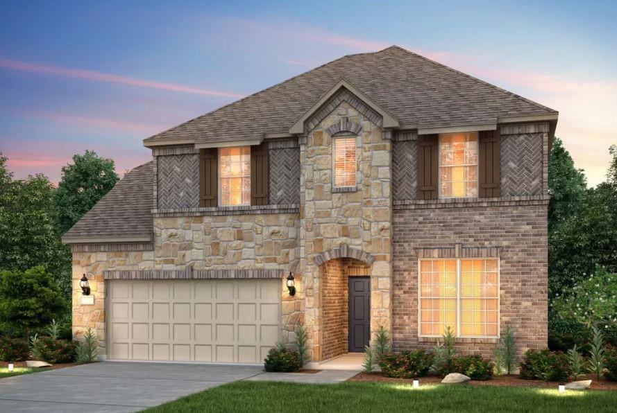 Pulte Homes, Lexington elevation D, rendering