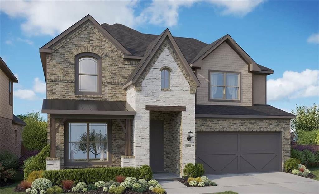 Popular Rosewood plan with features that include two story family room, built in kitchen appliances, door to utility from master closet, bed 2 has private bath, white cabinets with omega stone and granite in the master bath, full gutters, sprinkler front and backyard. Available May.