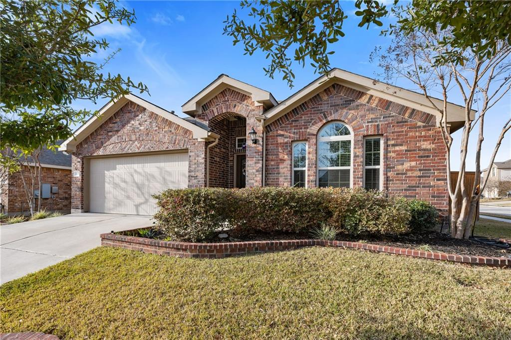 This gorgeous 1.5 story home is located in highly desirable Teravista neighborhood in Georgetown, TX is just north of University Blvd near Round Rock Outlet Mall, HEB, IKEA, Bass Pro Shops & more! Located on 0.13 corner acre lot and built by Lennar in 2014 this home offers lots of standard upgrades throughout including tile floors, granite countertops, stainless steel appliances, 42 inch kitchen cabinets, center island with breakfast bar, undermounted sink, handheld sprayer, open floorplan plus bonus room upstairs! Exterior offers 3 side brick, covered back patio extended, privacy fence, 2 car garage & more!
