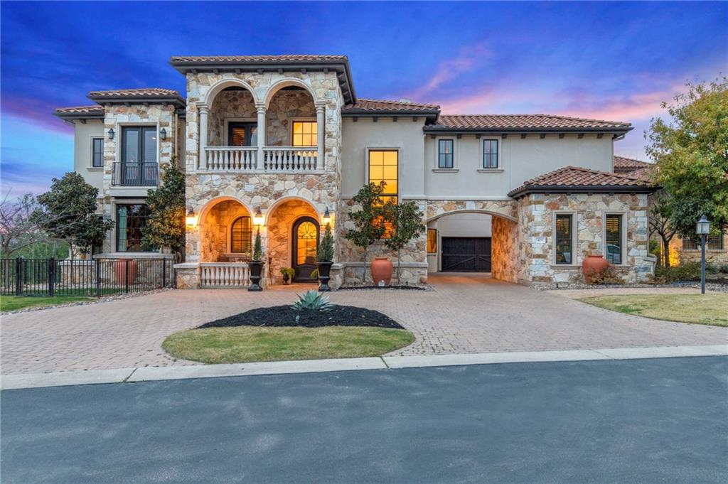 Breathtaking Lake Travis and Hill Country Views! Three levels of luxury including a rooftop deck. 2 story paneled study, wine room, library, billiard room, theater room, hidden cognac room, cigar balcony, master wing w/laundry room, separate casita with full bath, 3 wine coolers, Chefs kitchen w Thermador appliances, steam oven, gas cooking. Built-in speakers all around the house, steam room in master bath, finished landscaping in the backyard, Elevator, pool, spa, outdoor grill, and dining area with breathtaking views! Rough Hollow fitness center with cardio and free weight rooms, yacht club and marina. Text Agent to show. LA1 has a familial relationship to owner.