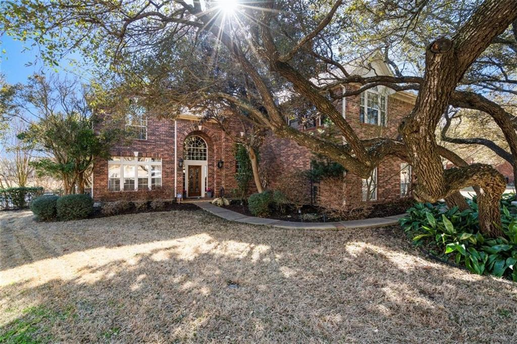 This executive home at the end of a cul-de-sac in the highly desirable Forest Creek neighborhood sits on an oversized wooded lot (over a third of an acre!) and is complete with a huge deck, backyard pool and hot tub AND backs to the golf course. Inside is equally impressive with updates galore! Featuring an open floor plan with tons of natural light accentuating the already stunning features of wood flooring, crown molding, and designer paint, this home is sure to impress. Each of the bathrooms have been beautifully updated and offer a modern and luxurious feel. With multiple living spaces, a formal dining room, and 4 spacious bedrooms, this home offers plenty of privacy while also having plenty of space to entertain. Refrigerator, washer and dryer convey. Feeling festive? This street is famous for the BEST lights display during the holidays!