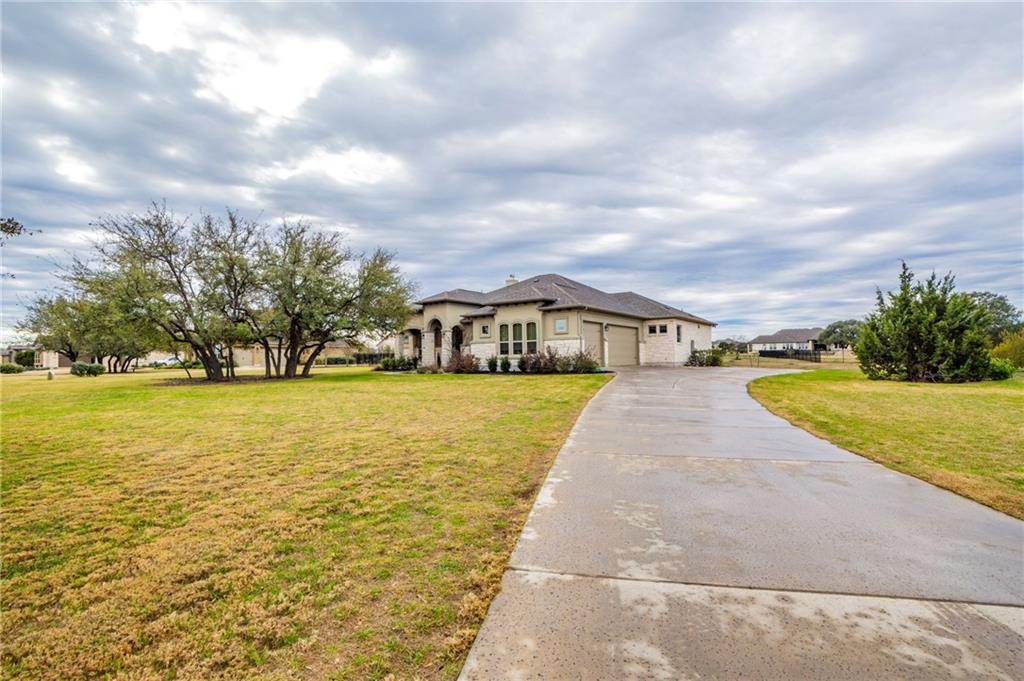 Immaculate and cared for Giddens custom home on 1.5 acres in Clearwater Ranch. The home is a 4 bedroom, 3 bath, study, utility room, walk-in pantry, open concept home. The 3 car garage has 8' garage doors with openers. Custom Steel 4' by 8' front door. Gutters all the way around. Stone accent wall in dining area. Large covered patio. Master Bathroom features 2 walk-in closets, garden tub and large walk-in shower with glass doors and 2 separate vanities. Large backyard.