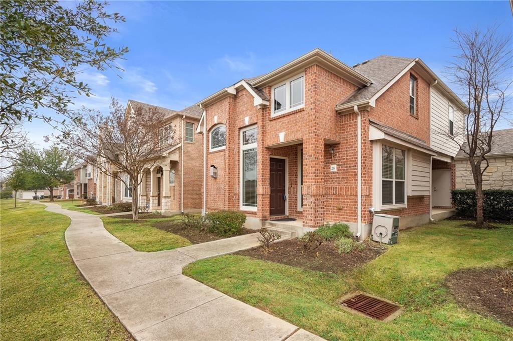 """Multiple Offers. Gorgeous Avery Ranch detached townhome zoned to best schools in Leander ISD! Step inside and swoon over soaring ceilings in the living room featuring a cozy fireplace to gather around and an abundance of natural light throughout the free-flowing open floorplan. You will love the chef's inspired kitchen boasting dark granite counter tops, ample 42"""" wood cabinetry, gas cooking, and breakfast bar overlooking the bright dining room. Retreat to the downstairs master suite with sound barrier windows, large walk-in closet, and en suite bath with deep soaking tub, dual vanities with granite, and separate shower. Upstairs is a versatile bonus room, ideal for your home office plus two sizable bedrooms with a shared bath. Attached two car garage with storage and a covered patio. Enjoy the lock & leave lifestyle that this turnkey home offers, conveniently located close to retail, restaurants, Apple Campus, Dell and Lakeline Mall. Avery Ranch amenities include golf course, tennis courts, parks and community pools. 3-D tour available at https://bit.ly/3aDYaAn. Deadline to submit offers has been extended to Thursday (2/25) 8 pm"""