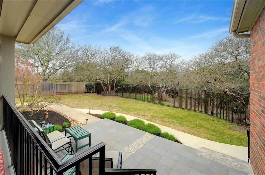 Lovingly maintained, one story home in Parkside at Avery Ranch, walking distance from exemplary Patsy Sommer Elementary, only minutes away from Pearson Ranch Middle School, the Avery Ranch Golf Course, Metrorail, two trailheads that connects to Brushy Creek Trail. This home backs up to a beautiful greenbelt featuring over $112,958 in high-end recent upgrades that makes this home stand apart from others. This home features high ceiling throughout, an open floor plan including a formal dining room, office area, wall of windows in the living room and breakfast area. Recently remodeled kitchen including installing Caesarstone quartz countertops, decorative tile backsplash, a new kitchen sink and having the cabinets professionally painted (2020). The 2018 kitchen updates included a new dishwasher, new cooktop and vent hood, new microwave and a new kitchen faucet. You will find elegant crown molding throughout the main areas of the home. Other notable upgrades include 5 stage cooling, variable speed blower, furnace with 2 stage heat, Carrier Infinity system (2019), improved and rebalanced ductwork, high capacity tankless water heater (2018), rear window replacement (2018-2019) and attic breeze gable fan (2019). Beautiful greenbelt view from the covered patio! Sit back and relax on the extended seating area. To make the setting even more attractive the owners added a rear sidewalk, trash pad, plant bed additions and professionally landscaped the back yard and installed drip irrigation in all plant beds after they moved in.