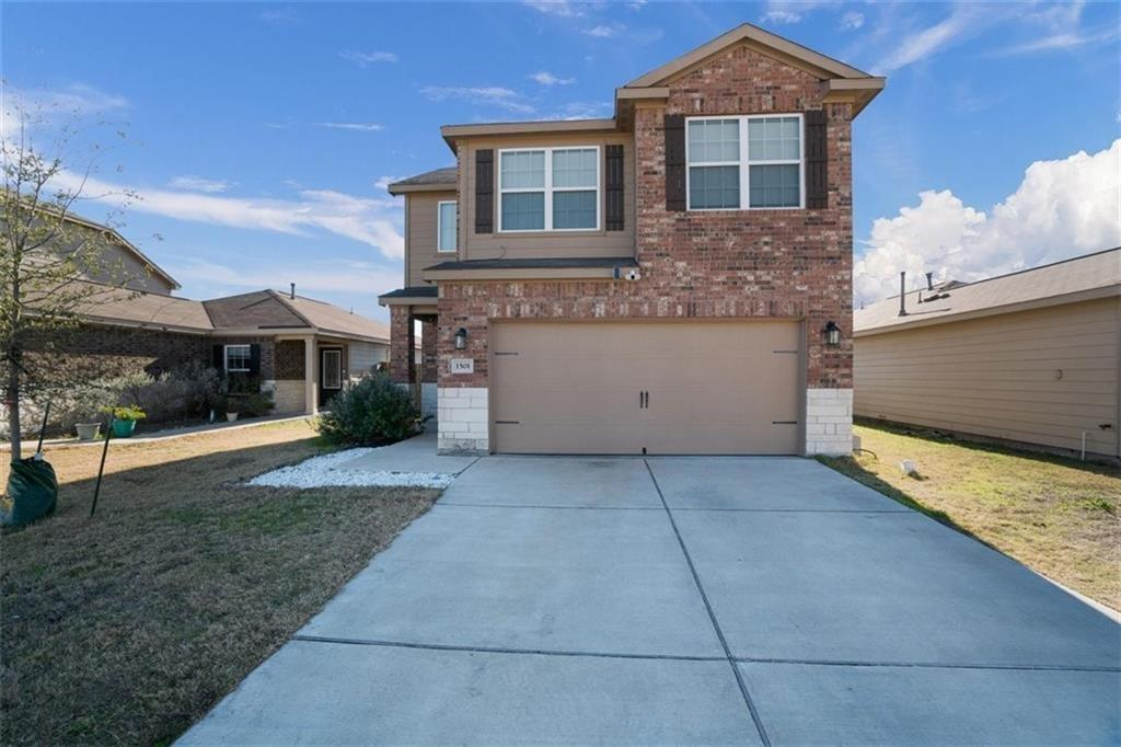 Don't miss this opportunity to live in a wonderful neighborhood on a quiet street. This 3 bed, 2.5 bath features granite counters, 2 car garage, W/D connections, gas range, private fenced yard, and patio! Please note carpet upstairs will be replaced with wood vinyl when current tenants move out.  This 2 story lives comfortably with bedrooms upstairs and living space down-perfect for a family or entertaining. Community has pool, splashpad, trails, park, playground, and covered picnic area with tables. This home is located perfectly with easy access to I-35, HEB Plus, Walmart, Lowes, Susan Fuentes Elementary, Lehman High and Ascension Seton Hays Hospital.