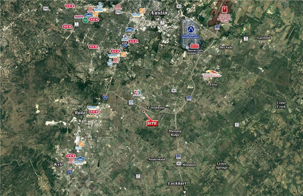 """• Located in the heart of Central Texas' growth corridor, the site provides an opportunity to develop a project in one of the country's leading growth markets, Austin, Texas. • Located just south of TX-45 a part of """"Austin's Outer Loop"""" servicing Austin and San Antonio. • The subject site is located minutes from Tesla's new Giga-Factory that is currently under construction. • The property is located Outside"""