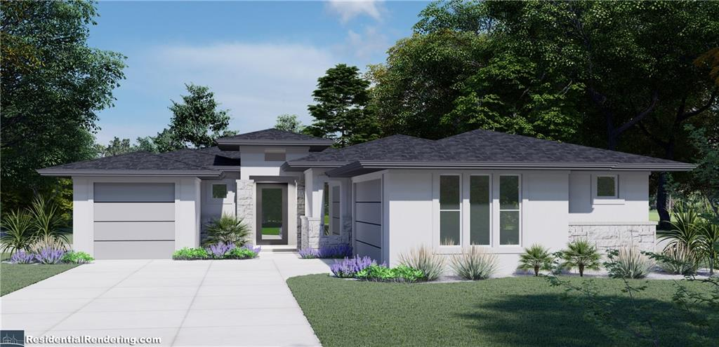 gorgeous NEW HOME COMPLETION DATE ON OR BEFORE 12/30/2021.  TALL CEILINGS, 8 FOOT DOORS, TALL BASE BOARDS, FRAMELESS SHOWER, ENGINEERED HARD WOOD FLOORS, PORCELEIN TILE FLOORS, OPEN FLOOR PLAN, STONE AND STUCCO EXTERIOR, ARCHITECUTUAL SHINGLE ROOF, 3 CAR GARAGE, FREESTANDING MASTER TUB, SEPERATE SHOWER, WORKING PANTRY WITH SPOT FOR 2ND REFRIGERATOR, LARGE COVERED BACK PATIO. STAINLESS APPLIANCES INCLUDING ELECTRIC COOKTOP, STAINLESS VENT FAN TO EXTERIOR, WALL OVEN MICROWAVE COMBO.  MANY MANY MORE HIGH END FINISHES.  FLOOR PLAN DOCUMENT IS INCORRECT, PATIO IN BACK IS COVERED CONCRETE, NOT A WOOD DECK.