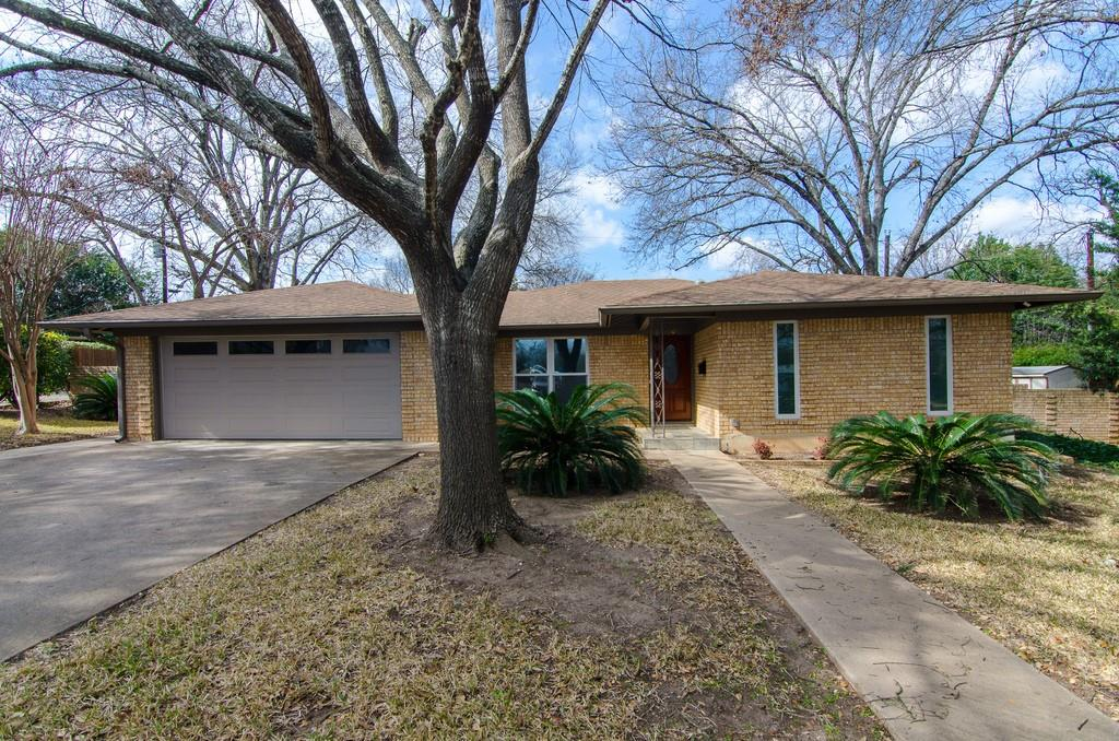 1965 Ranch Style Home with 2 car garage on a large tree shaded cul de sac lot with a certified young Treaty Oak. Great Private backyard. Easy access to Downtown, Zilker park, Lady Bird Lake and great shopping, dining and entertainment at the Domain. Short ride to nearby bike lanes on Shoal Creek. Cap Metro and UT Bus stop is just around the corner.  The home has some updates such as new Anderson windows, remote controlled skylights in living room, tube lights in the hall and remote controlled awning over the patio.  This one will not last long....