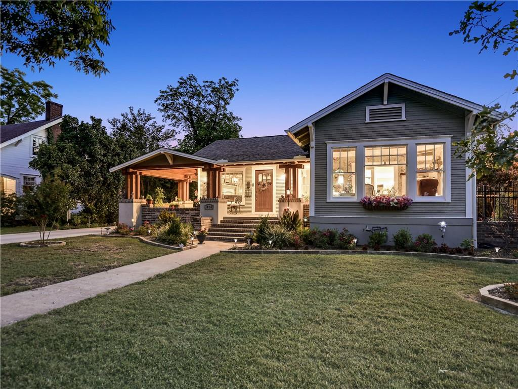 If you're seeking a modern retreat with a nod to the past in walking distance to the most beautiful town square in Texas you have arrived! This multi-generational property presents a multitude of opportunities to live, work & play! The main house, a quintessential bungalow with a wrap around porch, has been remodeled & molded into a home featuring 4 separate bedrooms w/ensuite baths, a chef's kitchen with gorgeous granite counters, abundant cabinetry & stainless steel appliances, a study, a spacious living room, formal dining, a sun room, utility area and an oversized attached 3 car garage. Current owners have also built a 2-story detached Sunday House on the back of the property. An apartment sits atop a 2 car garage which features a full kitchen,living,full bath& 2nd level balcony to enjoy the buzz of the outdoors! Add extra income by renting it out full time or VRBO! Another building is set up for all your workshop needs or a home office, studio – the ways to use all these spaces are endless!