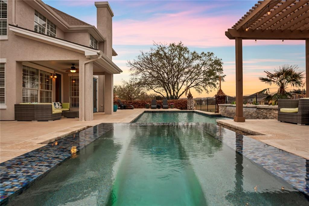 """When quality matters - $600,000 """"Down to the Studs"""" remodel !!! One-of-a-kind 5300sqft home with 3 car garage, amazing pool, .326 acres, 6 bedrooms (Including 2 master suites and 6th bedroom is an office without a closet), all backing to the golf course!  Huge open kitchen with newer cabinets and drawers that are soft close, over-sized island, granite counter tops, 48"""" Wolf range/6 burners plus griddle, 36"""" oven plus 22""""oven, Wolf 48"""" Wall Hood, Miele dishwasher, Sub Zero Ice Maker, and white farm sink. Gigantic master suite with 2 of the largest closets you will ever see!  Completely rebuilt master bath includes newer vanities, sinks and mirrors, marble counters, water closet, soaking tub, large glass walled shower with 3 heads with river gravel floor, tile on walls and floor, dressing table installed with makeup mirror built in, lighting, including chandelier over tub. Removed old pool and built new (2018) custom swimming pool with hot tub, auto fill and overflow prevention system. Installed new Pentair pool equipment including 2.5 HP main pump, 2.0 HP pump for water feature, DE filter, Ozone generator, UV anti bacterial system, automatic chlorinator, Mastertemp 400 heater, air blower, Pentair Screenlogic remote control system. Installed approximately 2000 sf concrete decking, pergola, grilling station with counter top seating and natural gas fueled grill. All flooring replaced with bamboo or tile.  All sheet rock removed, all doors replaced with solid core six panel doors, all plumbing and electrical inspected, repaired/modified to comply with code, all windows overhauled including garage, all baseboards replaced with 8"""" baseboards, newer roof, 2 newer Trane AC's with Nest thermostat and so much more (see attached upgrades list)."""