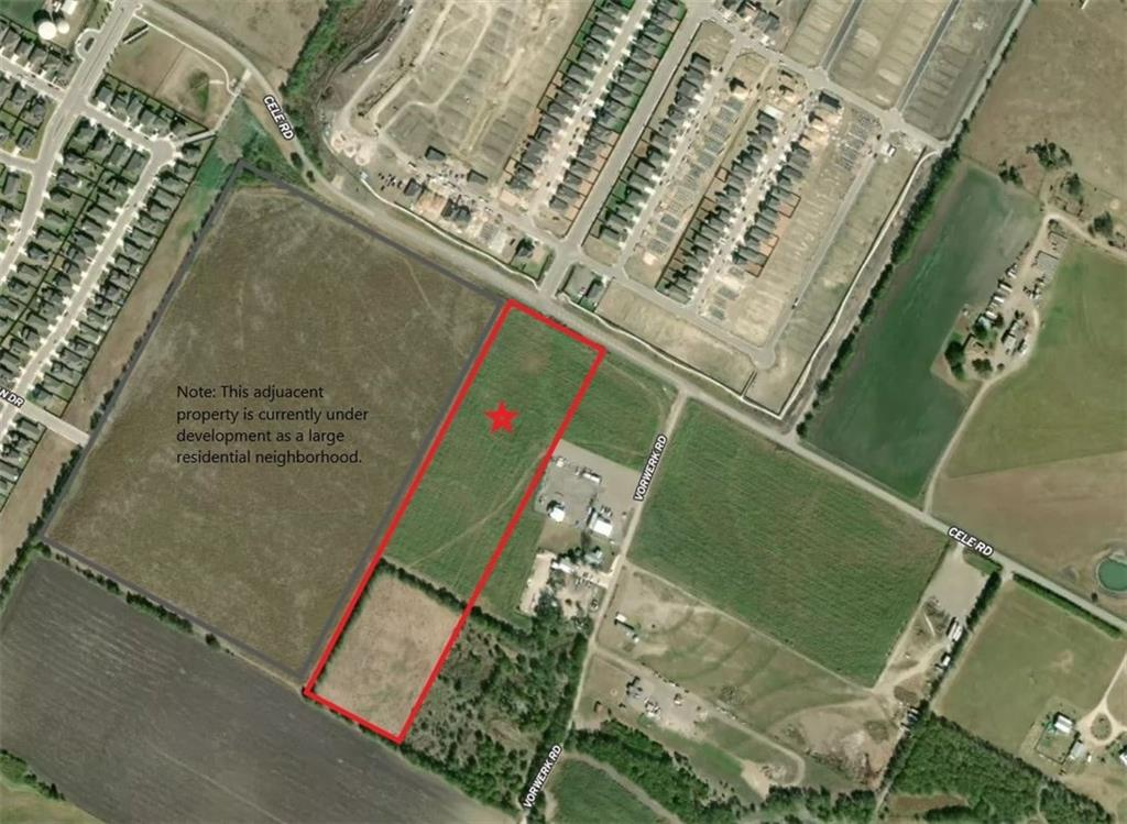 Excellent opportunity in RAPID GROWTH AREA. Just a short drive, (approx. 4 miles) from State Highway, (SH 130)/ State Highway 45 intersection, not far from the recently announced Amazon fulfilment center, Tesla, near and adjacent to multiple large residential subdivisions, retail, and industrial developments, convenient to local Elementary, Middle and High Schools. Pflugerville ETJ. Approx. 232 ft Cele Rd frontage. 16 in water line at street, electric meter on property. Level and ready to build. Land is currently ag exempt.  Great commercial/ mixed use potential.