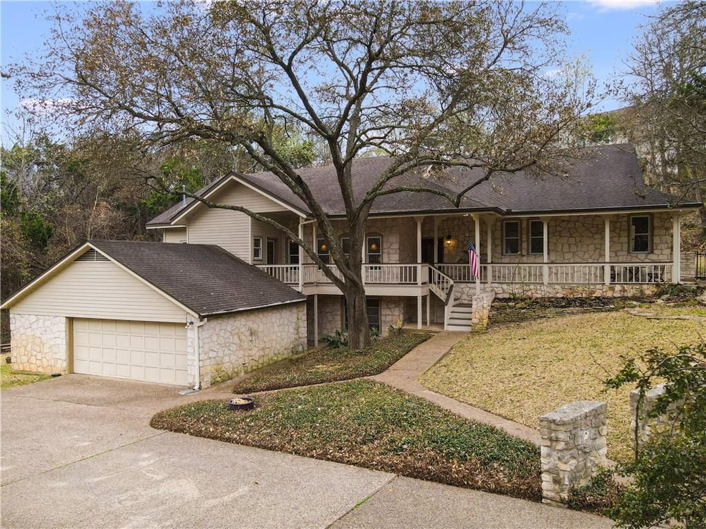 This lovely home is perched at the end of a quiet cul de sac in the heart of Highland Park West/Balcones Park. Gorgeous mature trees are spread throughout the property with a dry creek (NOT in flood zone) and natural wooded views. The exterior is stone with a welcoming covered porch that stretches across the front of the home. It is tranquil and peaceful. Among the many other features you will notice as you walk through this large home, there are many that are not readily visible, for example the home has solar panels on the back of the roof, greatly reducing the electricity bills; and a private well. The well water is not potable, but offers water for irrigation of the approximately 0.70 acre lot (to be verified) and a potential new pool. This really is a must see! For a showing, contact your Realtor to set up an appointment.