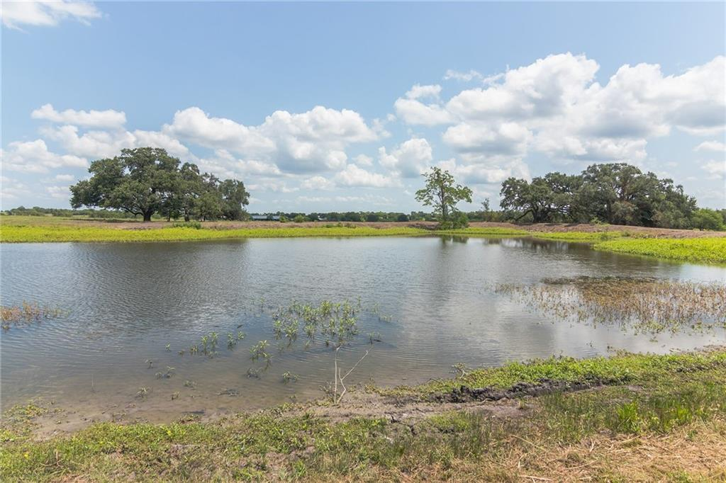 """Tired of close neighbors, come see this gorgeous unrestricted prime property! 48 +/- AG exempt acres just outside the city limits. Secluded and serene with a nice size POND -  """"Henderson's"""" stocked pond. Perimeter is partially fenced with nice roll to the land, beautiful mature oaks and several prominent """"home sights"""". Room for a few head of cattle or horses. Great location with no flood plain. Parcels this size are a rare find in Schulenburg!"""