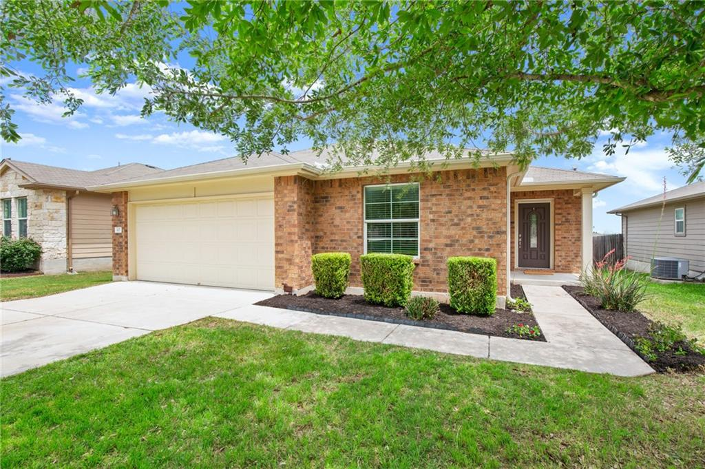 Welcome Home! This lovely 4 bedroom, 2 bathroom home offers a spacious layout with ample storage. Relax on the covered back patio and enjoy the large backyard with landscaping added for extra privacy. The kitchen is equipped with granite countertops, all black appliances, and the refrigerator conveys.   Riverwalk is a master-planned community bordering Brushy Creek and convenient to the toll roads. The amenities include 2 community pools, splash pad, beach-entry kiddy pool, playground, Riverwalk Park, and hike & bike trails. There is also an onsite elementary school