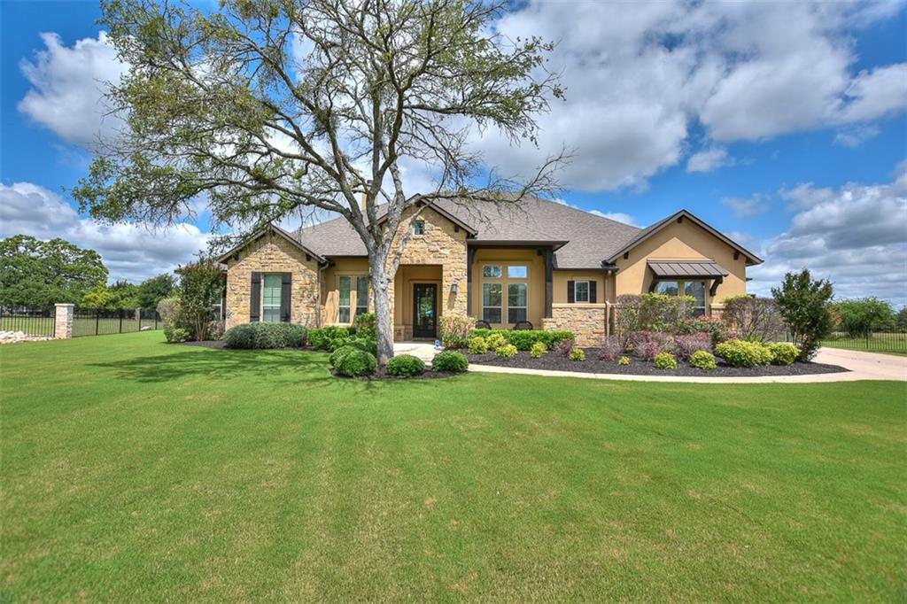 Stunning one-story home on an acre in the highly sought-after gated subdivision of Gabriels Grove. This one is a show stopper with 4beds, 3bath, two ensuite, game room, office, formal dining room, resort-style pool, and kitchen nook. Recently updated 1/2 bath with direct access to the backyard/pool. Recent new quartz counter tops in kitchen, 3 car garage, professionally landscaped, hard wood floors, crown molding, the works! Gated community, GISD Schools!  **Please note that this is a gated community however the gate was damanged and is being replaced.  **Multiple Offers Received, Deadline for final offers will be at 5pm Wednesday, 5/26. *** Showings can begin on Sat 5/22 @10am and go until Sun 5/23 @6pm. No appt necessary during the specified dates/times.  Any showings after 6pm on Sunday must be scheulded with owner!