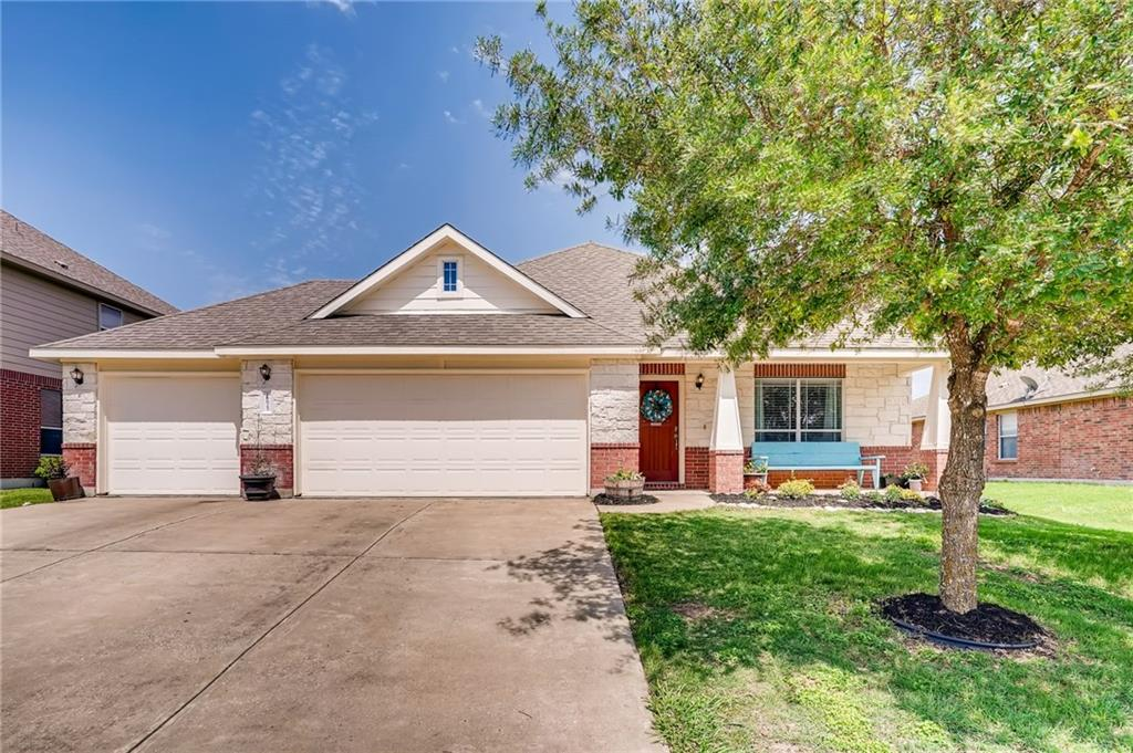 Great open floor plan, with a fantastic location. Easy access to Tolls 45 and 130, only minutes to ample shopping, restaurants, and entertainment. 3 bed/2.5bath home PLUS OFFICE that could be used as 4th bedroom. Open plan has kitchen open to living room and breakfast area plus a separate dedicated dining room. Master bedroom features double closet, double vanity, separate shower and garden tub. 3 car garage provides ample space for extra storage or additional vehicles.