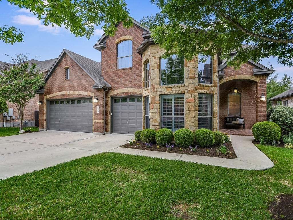 Spacious 5/4 with 3-Car Garage in Cypress Canyon Preserve. Quarter acre Private Greenbelt Lot with outdoor living amenities. Interior features Hardwood Floors, High Ceilings, Crown Molding, Tall Windows, Plantation Shutters and plenty of natural light. Open Floor Plan and multiple dining and living areas. Living room open to kitchen and breakfast nook. Kitchen with Center Island and separate Eat-In Bar, plus Walk-In Pantry. Granite and Quartz Countertops, Marble Backsplash. Dedicated Study and separate Gameroom. Downstairs guest room and master bedroom. Walk-in-Closets. Master bath with Soaking Tub and separate Standing Shower, plus Dual Vanity. Covered Back Porch with built-in Outdoor Kitchen. Spacious open-air Deck and patio. Sprawling lawn with Sprinkler System. Two neighborhood Pools & Parks/Playgrounds, plus a Sports Court. Just 10 min. to Lakeline Mall, HEB, dining and entertainment. Leander ISD (Deer Creek Elementary, Cedar Park Middle, Cedar Park High)