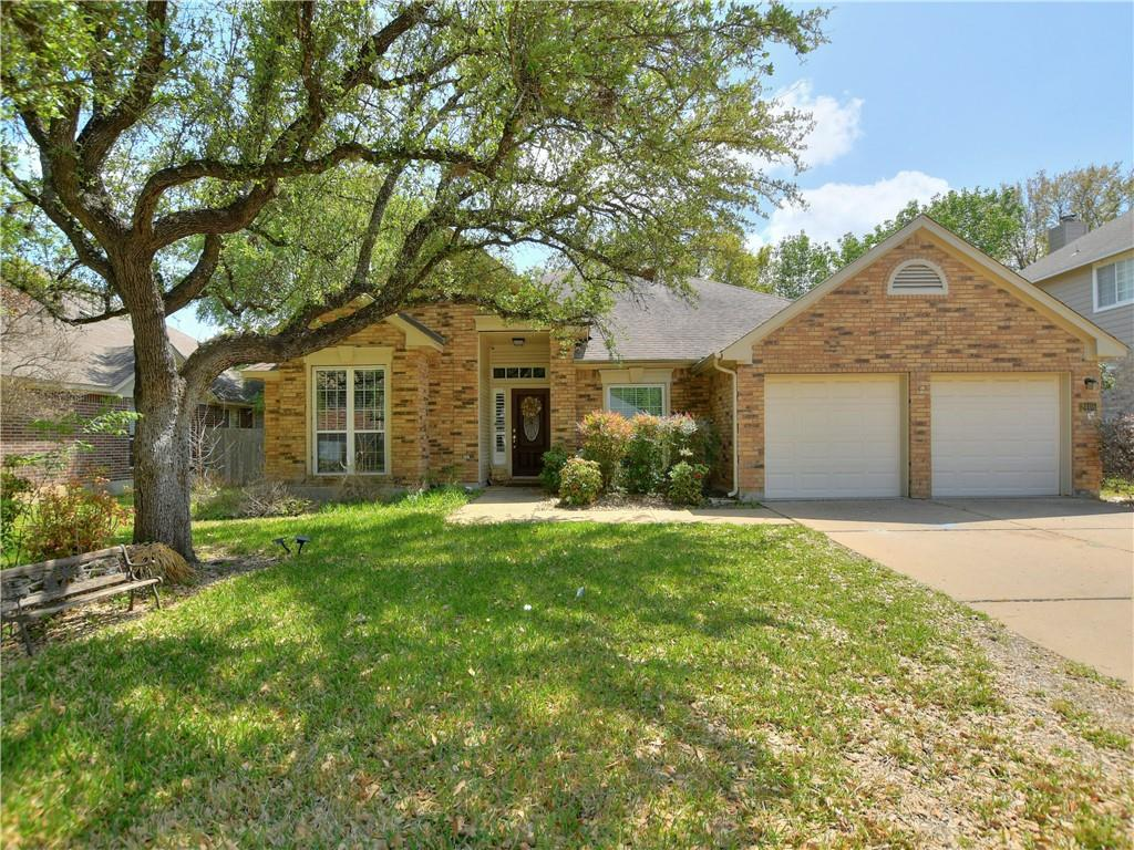 Single Story four bedroom home in highly sought after RRISD School Fern Bluff Elementary. Four sides brick. Recent carpet in all secondary bedrooms. In-Law Plan with 4th Bedroom that connects to the master bedroom.  Ideal for many alternate uses. Large trees, covered patio with recent roof on the patio.  Private backyard. Perfect for BBQ and Entertaining Guests. RARE FIND!