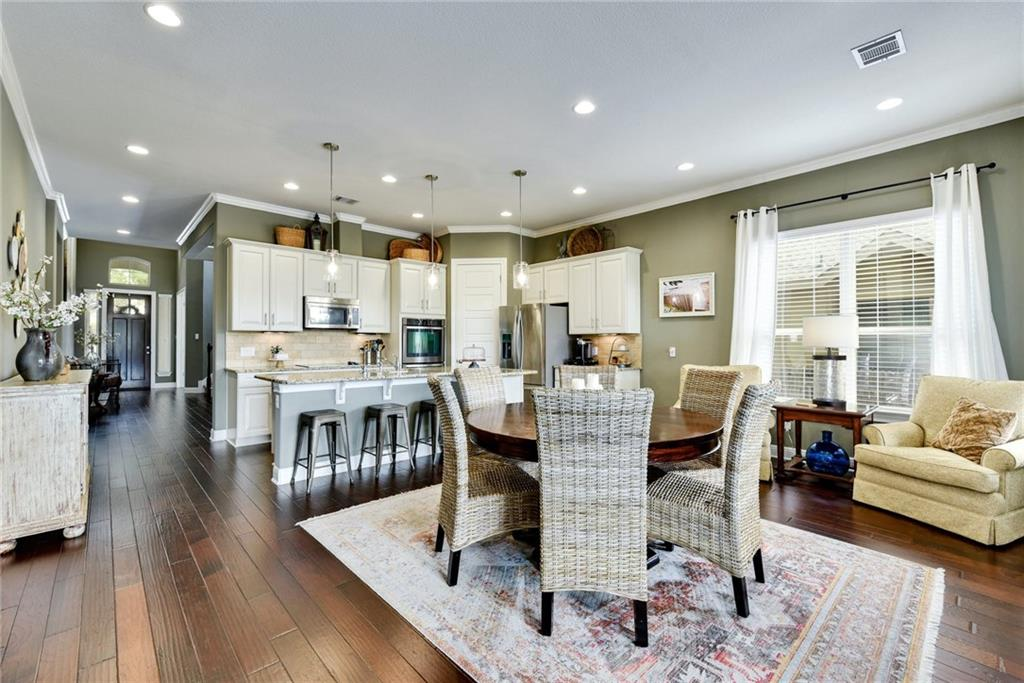 Meticulously cared for home in the Reserves at Brushy Creek.  Home features open floor plan with well appointed first floor office, abundant natural light, gleaming hardwood floors. First floor primary bedroom with spa like bath.   This immaculate 5 bedroom is move in ready! Gorgeous backyard with wonderful pergola to enjoy lazy Sunday afternoons.