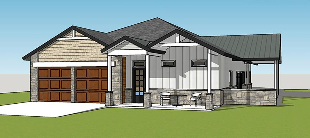 Gorgeous lot with a back yard full of large Oak Trees and backs to a ranch.  Single story 3 bedrooms, 2 bath open floor plan concept.  Designer finishes throughout home.  Should be ready to close mid to late July.