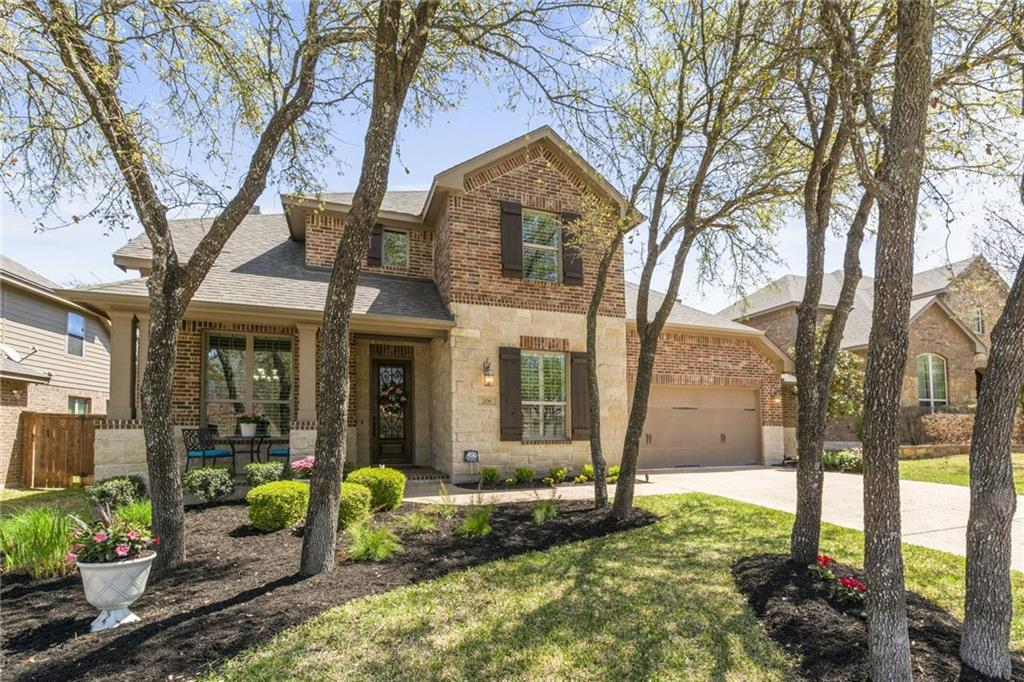 Living is easy in this immaculately presented, 4 bedroom, 3.5 bath home with 2.5 car garage in Ranch at Brushy Creek. Soaring ceilings greet you the moment you step into the inviting foyer with a formal dining on your left and a private office on your right. The open concept floor plan is absolutely stunning with tons of natural light and the perfect layout for entertaining. Enjoy the comfort of a warm fire in the living room on cool fall and winter evenings. The gorgeous kitchen is incredible with tons of cabinet space for cooking essentials and room to move around and prepare meals. Granite countertops + tile backsplash + wood cabinetry = perfection. Wake up feeling rested and ready for the day in the beautiful owner's bedroom. You will never worry about feeling cramped while preparing for your day in the ensuite bath with 2 separate vanities, a soaking tub, step-in shower and huge walk-in closet. Head upstairs to a spacious game room or take the steps up to the fantastic media room where movie watching will be taken to the next level. The meticulously maintained backyard will be one of your favorite places to spend time. Whether you want to lounge and enjoy the peace and quiet of your private backyard or you want to hang out with friends, the covered back patio provides space for it all. This beautiful home is close to several parks, the Brushy Creek Greenbelt and provides ultra-convenient access to major roadways including 183, 183A, MoPac, 45, 130 and I-35.