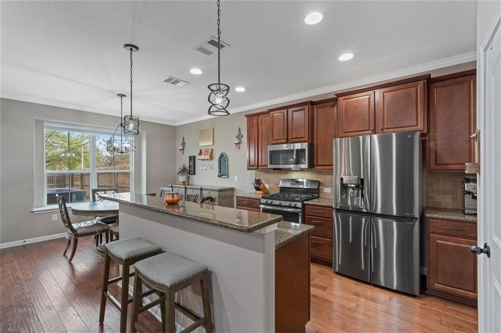 A 78729 Round Rock ISD Stunner! 1900+ SQ FT! 3 bed 2.5 bath home with huge fenced in backyard that is maintained by the HOA! NO neighbors in front or behind! BEST location in the neighborhood! Granite Countertops, Wood/Tile floors, Cellular Blinds, Nest Thermostats/doorbell, Dimmer switches, all new LED lighting and new fixtures, top of the line paint, butler's pantry/office area, Crown Molding throughout, oversized 2 car garage with lots of extra storage space. So many awesome features you HAVE to come see for yourself!