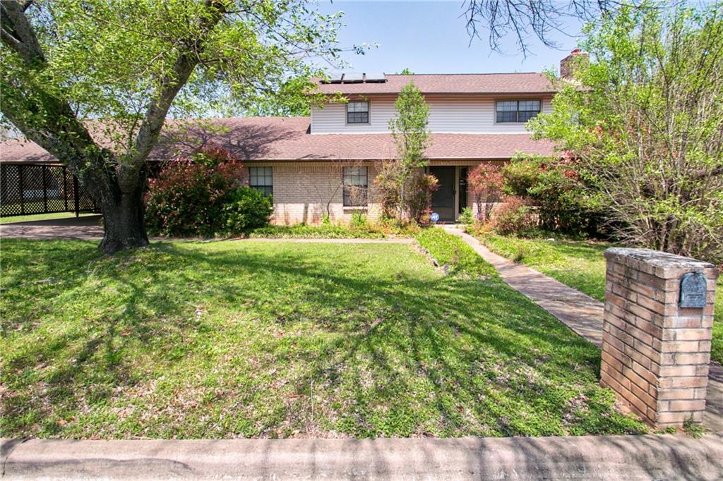 This home built in 1978 has all original flooring, cabinets, just waiting for the right buyer to come in and bring the home to 2021 standards!  Great lot with very private backyard.  There has been a very large carport addition added on with extra overhead storage.   Located right across the street from the elementary school and within blocks of the middle school & high school. There is no survey available.  The seller's disclosure is attached, but seller is 92 and no longer lives there.  POA has never resided there so very little about the property.
