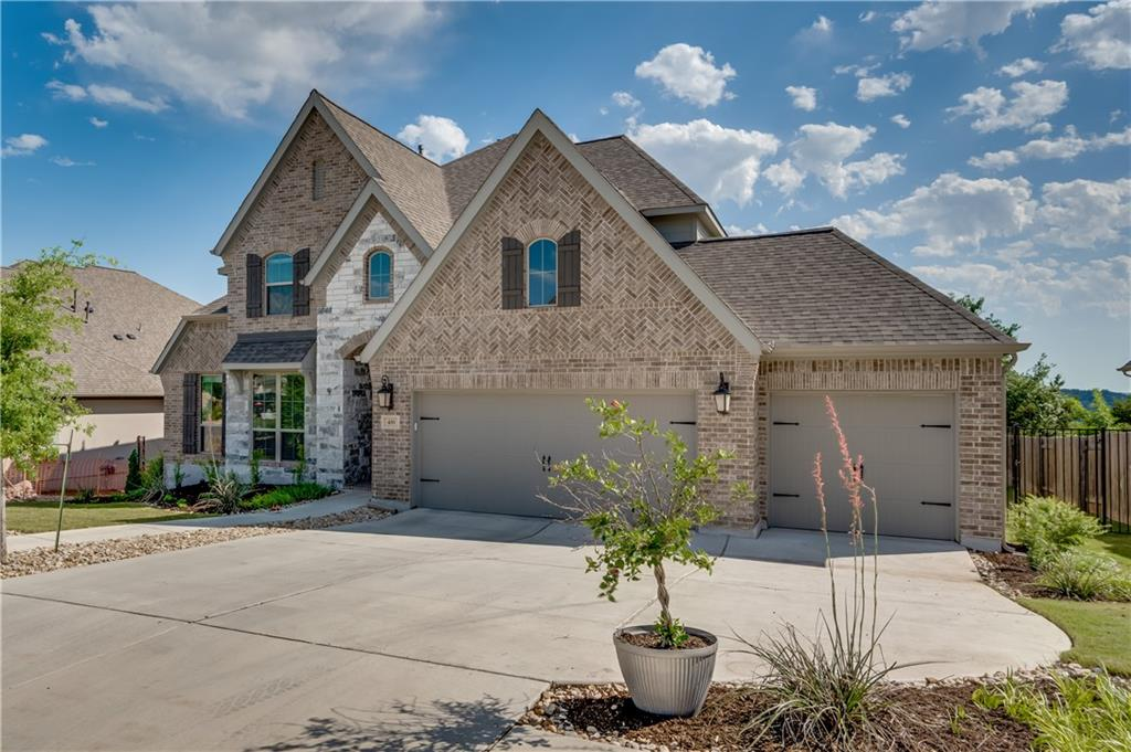 Why wait to build new when this amazing home in Georgetown's highly desirable Rancho Sienna is waiting on you! Completed in August 2019, this 2-story home built by Perry Homes offers +/-3,500sf within a short distance to the community pool. A well-designed floor plan w/ 4 bds, 3.5 bths, dedicated study, formal dining, breakfast nook, 2 bonus rooms upstairs, 4-car garage & extended covered patio. The family foodie is sure to enjoy preparing the next delicious dish in this light, bright open-concept, eat-in kitchen while having everyone relaxing nearby in the family room, breakfast nook, or formal dining room. This fresh kitchen showcases quartz countertops, shining stainless-steel appliances, built-in oven/microwave, a gas cooktop, a center island and a plethora of cabinet space. The expansive living room in anchored by a wall of windows across the back of the home with natural light beaming in and bringing the beautiful outdoors in. The generous sized owners' retreat boasts a spacious bath w/ a spa-like walk-in shower, garden soaking tub, double sinks and large walk-in closet conveniently connected to the utility room. The second en-suite bedroom is downstairs making it ideal for guests to visit. Enjoy the flexibility of 2 additional flex areas upstairs that are could easily be a playroom, home gym, meditation zone, movie room, hobby area or whatever you dream! With its smart design, the seamless flow of this home provides great separation of bedrooms giving everyone plenty of privacy. For the entertainer, this home has a respectable outdoor space for sipping your morning coffee on the covered patio or BBQ'ing. There will be space for everyone including Rover to run around or the avid gardener to harvest those summer veggies. Located w/in 1-mile of the neighborhood elementary school and zoned to Liberty Hill ISD. Fabulous neighborhood w/ amenities to match, including: pool, splash pad, parks, hike/bike trails, sport court, grill, fitness center and fishing lakes.