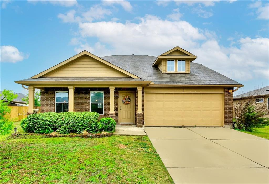 *** BOM due to buyers change in circumstances. Multiple offers received, please submit all offers by Saturday at 3pm.***  This beautiful 4 bedroom with soaring ceilings is so inviting as you enter! Featuring the master bedroom on the main level, this home also offers a front porch and a covered patio, low maintenance laminate flooring in all the main areas, granite countertops in the kitchen, generous sized secondary bedrooms and more! Minutes from schools, dining, shopping & the Co-Op development in Downtown Hutto on an almost 1/4 acre lot!