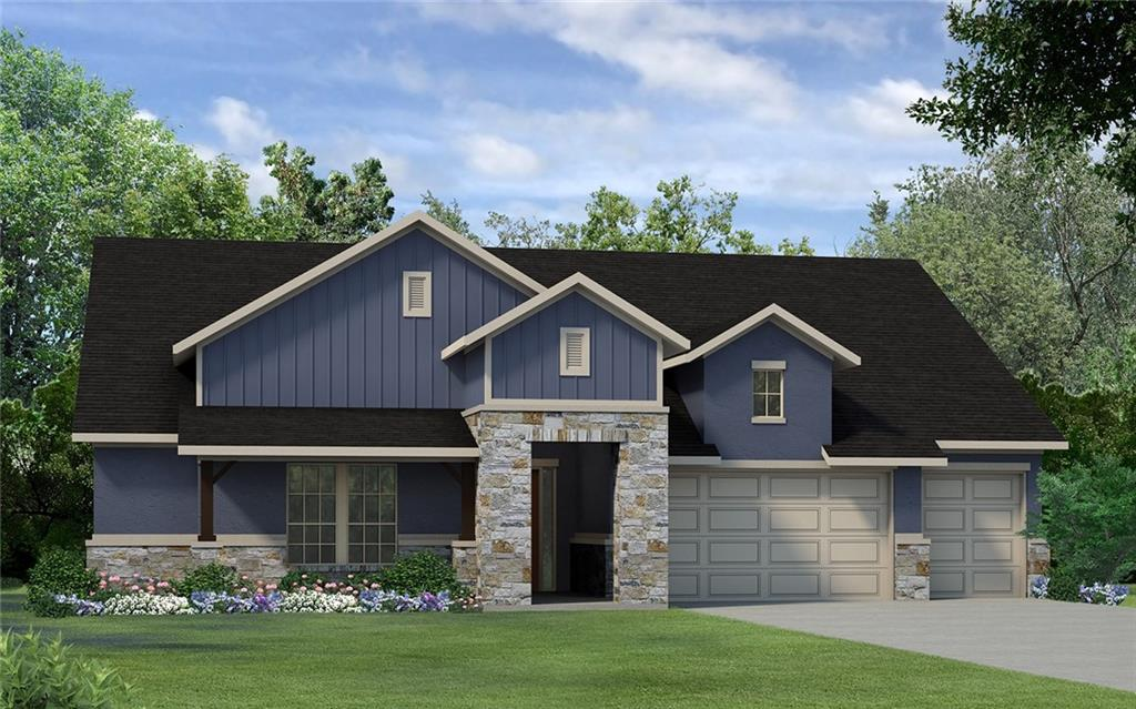 This home is a Norwalk floorplan built in the Texas Hill Country exterior.  It is a 2 bedroom + flex room, 2 full baths and 1 half bath home. 2 car garage + golf car garage.  2 master closets and 2 separate vanitys in the Master bathroom.  Plenty of storage in this home.   Large Guest bath for your visitors.