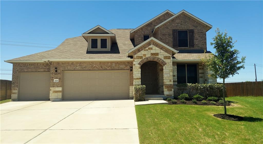 Wonderful home built by ASHTON WOODS in excellent condition! Perfect for a family!! 4 bedroom, 3.5 bath, dedicated office,vaulted family room open to the beautiful kitchen appointed with quartz countertops, gorgeous backsplash, stainless steel appliances, spacious center island with pendant lighting. Formal dining and breakfast area. Very large primary bedroom and bathroom with huge walk-in closet. Spacious upstairs game room,3 bedrooms up including one with an ensuite bathroom. The home has a 3 car garage and large driveway. Outdoors you can relax on the covered patio and enjoy the large fenced backyard. The home has full network cabling. Solar screens are also an added feature. This property has city utilities with no MUD tax. Close to 130 and 45 tollways for easy commute to Austin's major employers. Also near Costco, Stonehill Shopping Center, Blackhawk Golf Course, Typhoon Texas, Kalahari Resort and numerous restaurants.