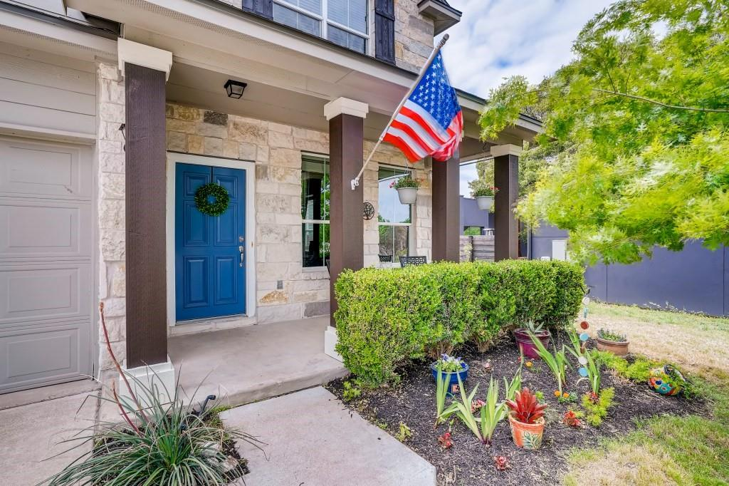 This wonderful two story home backs to parkland and the San Gabriel River, one of only ten homes on the bluff.  It is a convenient location to acclaimed schools, restaurant, shopping, grocery and neighborhood parks. Trailhead for the San Gabriel River Trails is just blocks away- walk, run, ride your bike, or fish along the river.  Inside, the home features an open floor plan, high ceilings, great living spaces and beautiful wood and tile flooring. The spacious master suite is on the main floor and has spacious bath with walk-in closet, separate shower and tub. Kitchen features breakfast bar, granite countertops and stainless appliances. It opens to a roomy dining area. Outside is a covered patio, huge private backyard and fenced for extra privacy. Automatic sprinkler system in the entire backyard. This home is a must see. Subject to Katy Crossing HOA deed restrictions, but does not pay HOA fees.