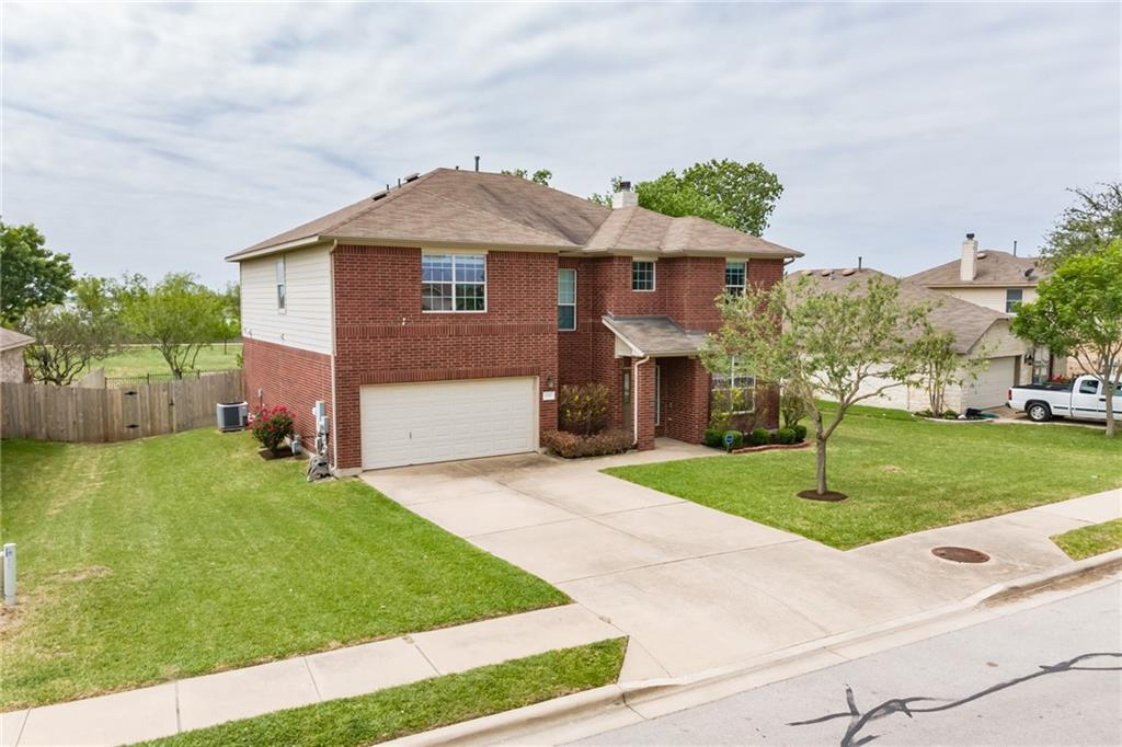 Walk to the beach on Lake Pflugerville! Your large backyard connects directly to the greenbelt and Lake Pflugerville trail, and the lake! One of a kind, incredible views of the lake from the covered back patio. Rare listing on this street. A do not miss opportunity to have the backyard of your dreams. Wonderfully spacious place with 4 bedrooms, formal dining, family room with a lovely fireplace, a bonus space upstairs. Large kitchen w/ center island, ample counter space. Roomy pantry. Tile, Berber style Carpet, ceiling fans, 2 in. blinds, Sprinkler system, gutters, finished garage, Water cooler. Driveway can actually hold more than two cars! Everything about this home is comfortable and enjoyable. Did I mention the wonderful sense of privacy and amazing views! The neighborhood offers a pool, sport court, Gaga pit, soccer field and many hike and bike opportunities. Check out the 3D Tour in the virtual tour link below the drone video! New shingles and gutter look amazing!