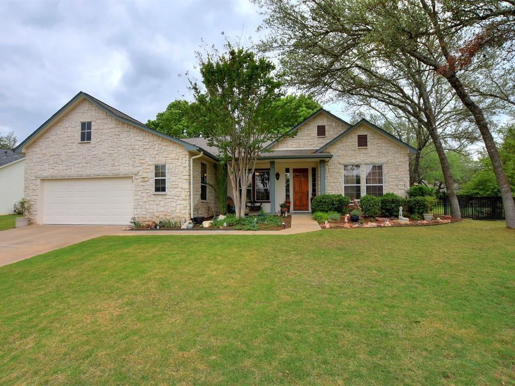 """Please make appointment to show with seller--dogs on property--Don't miss this re-done Pedernales--AC & heater are 1 year old--appliances were replaced in 2013--H2O heater was replaced in 2015--H2O Softener replaced in 2017--Roof was replaced in 2020--granite in kitchen, all baths & utility--Wood look flooring throughout/it's a upgraded, commercial grade vinyl plank/""""Kardean""""--Master bath has a new walk-in shower--Gas cook top--Double oven--Microwave--Fantastic vegetable garden in the back--Sprinkler heads have been re-worked to multi-stream heads--Beautiful french doors from the dining room open on the side of the house to an extended patio where you can see the golf course--Beautiful view!--Don't miss this beauty!"""