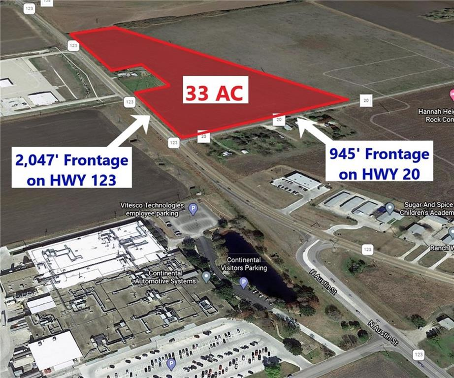 Signalized corner location - NEC SH 123/FM 20 - 1500' of SH 123 frontage - Utilities available to site - Navarro ISD - Explosive growth area - Numerous housing developments surrounding the property - Owner/Agent.
