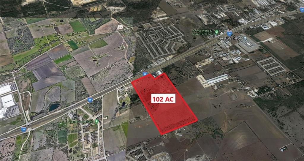 102+ acres just south of New Braunfels - 821' of I-35 N frontage - Survey available - Perfect for Commercial, Industrial, or Residential - Comal ISD.