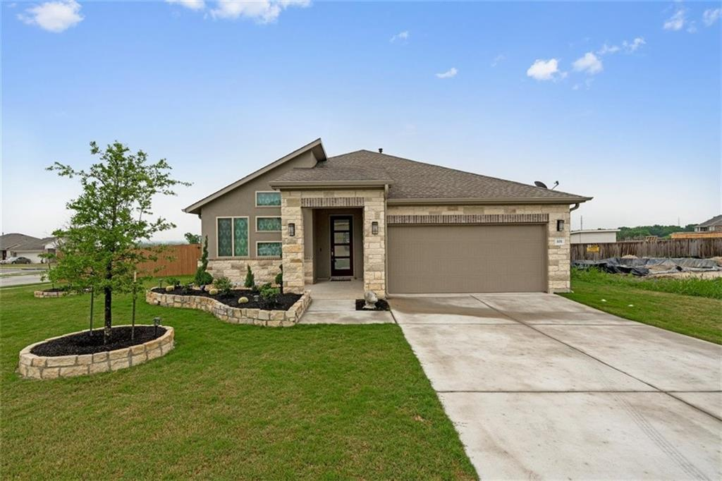 One of a kind property in desirable Star Ranch! This home was built in 2019 and has numerous upgrades that you can't get from the builder! The backyard features a gorgeous in-ground pool and a large covered patio.  Inside you'll find wood-look tile throughout the main living areas, a large open floor plan, separate dining room, and flex space between the two secondary bedrooms - perfect for creating the ultimate media, playroom, or at home gym space. In the primary bedroom, you'll enjoy dual walk-in closets and a spacious ensuite complete with a large walk-in shower with modern subway tile and rain shower head. The front room could easily be converted to a 4th bedroom with a double door (currently 3 bedrooms). Sitting on a great corner lot and backing to green space and just a short distance from Toll 130, the location could not be better. Come see for yourself, today!