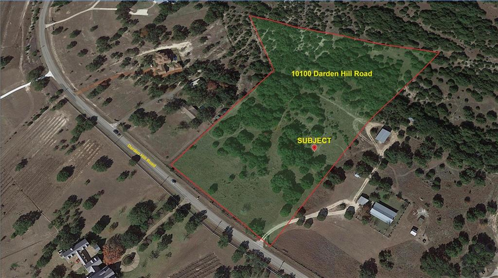 RARE, UNRESTRICTED 11+ acre tract SW of Austin with bonus amazing commercial potential. Build a beautiful home with space on all sides to watch amazing Texas sunsets, starry nights, or potentially develop into smaller lots for custom builds or commercial frontage on Darden Hill. City water at the road. Excellent land for personal or commercial equestrian facilities with room for large custom home, barn, paddock, pasture, and arena(s). Great tree coverage. Acclaimed Dripping Springs Schools close by including two excellent private schools within 20 minutes. Spectrum high speed internet. 2 minutes from The Salt Lick the new Driftwood Golf Club. Only two stoplights to downtown Austin! OUT OF ETJ and UNRESTRICTED (except for required septic & minor site improvements). Check out Drone Video. Austin, TX with vineyards, distilleries, music venues, restaurants and destination locations in all directions.