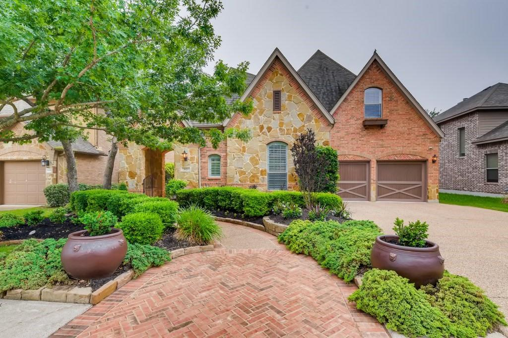One of a kind model home built by Highland Homes in The Ranch at Brushy Creek in Williamson County. The home has a beautiful brick and stone elevation, brick courtyard, landscaped front yard with large trees and beautiful walkway. The backyard has a built-in covered porch with a grill and outdoor fireplace.  The backyard overlooks one of several greenbelts and walking trails in the neighborhood. Numerous upgrades to the home include multi-level high ceilings, spiral wood and tiled staircase, game room w/ adjoining media room, built-in hardwood desks and book cases, built-in appliances, window treatments, custom wood flooring, special lighting, security and speaker systems, large master suite with upgrades, three HVAC units, and a three car garage. Kitchen features a center island, sink, and bar seating with pendent lighting, as well as a nook breakfast area with built-in cabinets and desk. Living Room features an in wall TV/AV hookup, ceiling speakers, recessed and fan lighting. Fireplace is brick hearth & surround, stone cladding, and gas logs. Laundry has built-in cabinets, sink, and electric washer hookup, and electric and natural gas dryer hookup. Primary Bedroom has dedicated AC and heating with thermostat. Two upper bedrooms with walk-in closets, private sink, cabs and lighting. Game Room comes with audio controller, recessed and fan lighting, beverage refrigerator and sink. The neighborhood offers a natural setting with wooded walking trails, volleyball court, basketball court and gated pools (with cabana and seating). The community is in walking distance to the 90-acre Brushy Creek Lake Park - which features a kayak launch, picnic pavilions, fishing piers, sand volleyball courts and water park.  Conveniently located near top tier schools, golf courses, dining businesses, Parmer Boulevard, 183 and IH 35. Come see this beautiful home!