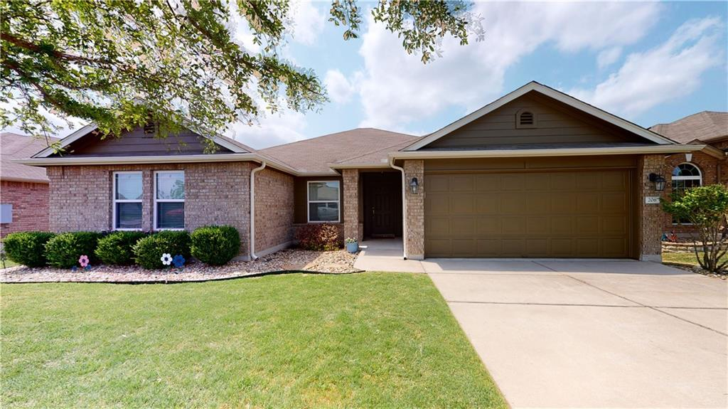 Beautiful three-bedroom, two-bath home with multiple living areas with built-in bookshelves.  Study room with French doors. Large master bedroom with a walk-in closet with built-ins.  Open family room with custom built-ins for storage.  Enjoy the back patio view overlooking open fields.  Includes a large wooden storage building with windows and composite shingle roof in the backyard.