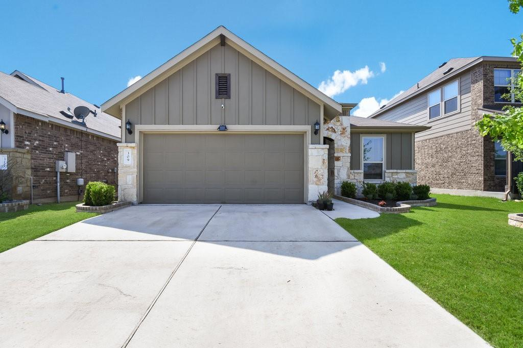 Well maintained, 1-story home in popular Carmel Creek with low property tax rate!  Open floor plan complete w/spacious kitchen, granite counters, large island/breakfast bar, and stainless-steel appliances.  3 bed, 2 baths with flexible bonus room perfect for home office/media/4th bedroom. Master suite boasts upgraded walk-in shower w/rain showerhead. 2-car garage with built-in storage.  Neighborhood amenities include community pool, park, pet/dog park, and basketball court.  Easy access to Toll 130 & Hwy 79, CO-OP District, Downtown Hutto, and Austin Airport.