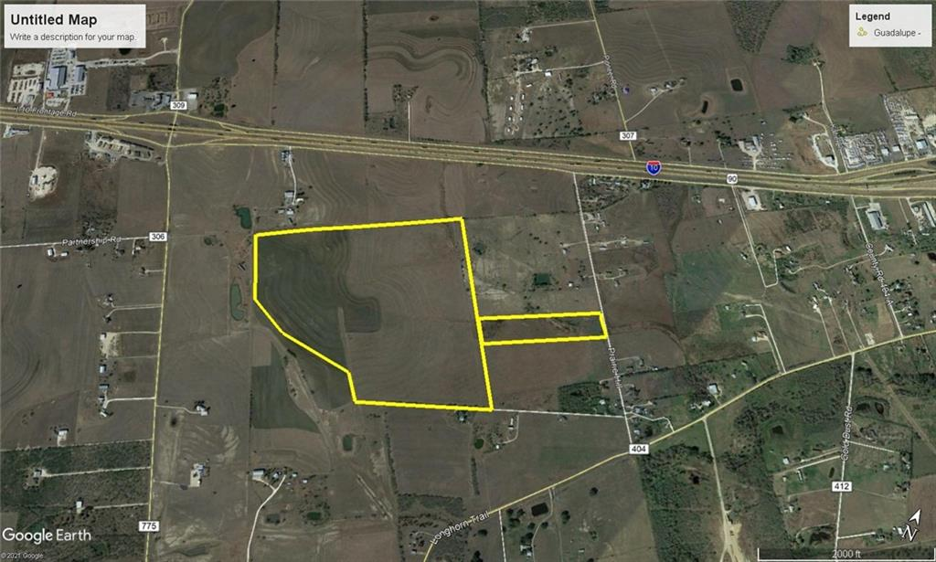 139 acres approx 6 miles west of downtown Seguin - I-10 Visibility - Tremendous access to I-10 - Perfect for Commercial, Industrial, or Residential - Marion ISD - 2 Parcels Tax ID 62096 (128.01 acres) and Tax ID 62907 (11.9832 acres) - Purchase Price $33,000 per acre - Owner/Agent