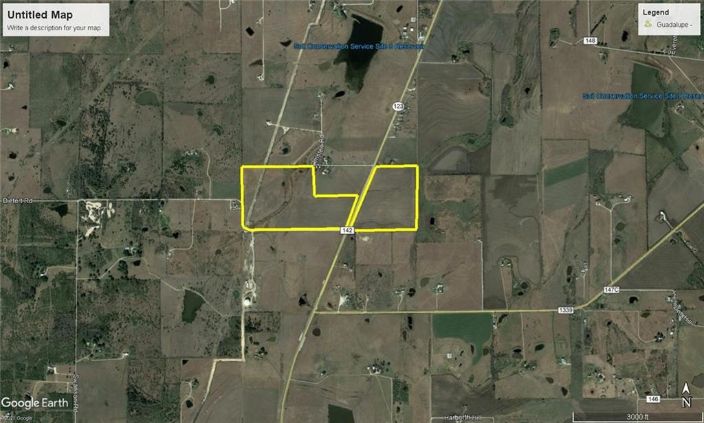 Frontage on west (832') and east (1600') side of SH 123 - Navarro ISD - Explosive growth area - Numerous Commercial, Industrial, and Residential developments near property - 2 Parcels Tax ID 65166 (69.995 acres) and Tax ID 65159 (41.393 acres) - Purchase Price $45,000 per acre - Owner/Agent