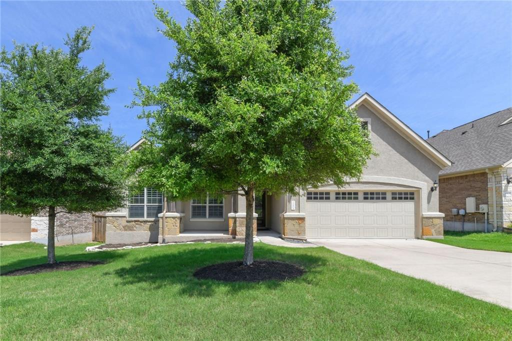 This 4BD/3BA, 2.5-car garage home is located in the desirable Pearson Place community, walking distance from tennis courts, swimming pool and playground, ~3 miles from the coming soon Dell Children's hospital and about 5 miles from the new Apple campus. This home is zoned for Round Rock ISD: England Elementary, Pearson Ranch and McNeil High School. 5 minutes from the Kelly Reeves Athletic Complex, dining, shopping and golf, this is a prime lifestyle location. Easy access to major highways makes for an easy commute.   A manicured lawn and mature trees welcome you to this bright and spacious single-story family home. Work from home comfortably from your large dedicated office. The planning center allows for an additional workspace! The open living and dining areas feature engineered wood floors, crown molding spacious layouts and a gas fireplace for tasteful entertaining. The gourmet kitchen features custom white cabinets, an oversized granite island, a custom backsplash, built-in cooktop with exterior ventilation, walk-in pantry and stainless steel appliances. The dining room has patio access and expansive views. Upgrades include plantation shutters.   Retreat in the oversized owner's bedroom with an en-suite featuring custom cabinets, double vanities, a glass shower and soak tub. A huge walk-in closet that offers plenty of storage. Secondary bedrooms offer plenty of privacy, natural light and closet space. Main-floor laundry off the garage for added convenience.   Elevate your outdoor entertaining with a concrete patio that leads down to a large fenced yard where you'll find a brick pad with a dedicated stone firepit and a huge seating area under a beautiful custom pergola. This is an ideal lifestyle home that offers plenty of living and hosting space indoors and out - book your private showing today!