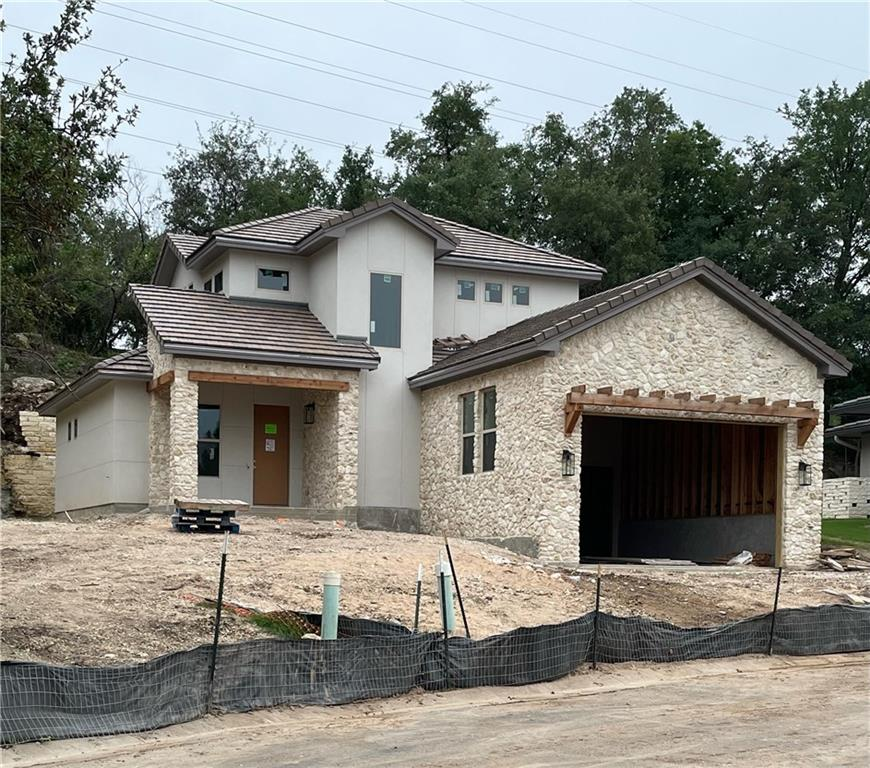 ***Showings by Appointment only Home currently in the final stages of construction is scheduled to be completed in the end of August 2021.  This beautiful custom home is being built by local highly experienced and respected builder, Tim Schevers of Madrid Farms Construction. It's located in the private community of Lake Chandon, nestled in the heart of Lakeway. Although very private, there is very easy access to golf, marinas, miles of green belt nature trails and 620.   Exterior home features include flat tile roof, cobblestone and stucco, upgraded landscape with irrigation system. The interior features spray foam insulation throughout for high efficiency. Main level has large, high ceiling open floor plan with lots of eye catching features including beautiful wood flooring throughout, a modern fireplace wall, kitchen complete with appliances, large island and quartz counter tops, spacious study, large laundry room half bath, and Primary bedroom/ ensuite. Luxurious Primary bath has slipper tub, and upgraded finishes throughout. Upstairs has wood flooring throughout, bright and airy study/game room, 3 spacious bedrooms,  2 generous bathrooms with upgraded tile. HOA includes lawn, landscape and tree trimming.