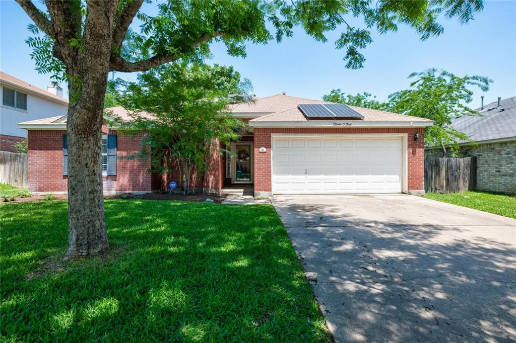 Come see this adorable home in the heart of Pflugerville!!  Located in a quite well established neighborhood.  Remolded and updated home with great attention to detail. Some of the upgrades include: Plantation Shutters, Crown Molding, Granite Counters, Recessed lighting, a closet system, and much more.  Laminate flooring throughout the home, carpet is only in the 2 secondary bedrooms.  Oversized backyard with large trees is perfect for entertaining!  AC is 2 years old and the Roof is 10 years old Savings Galore with the included Solar Panels....you can keep that AC as cold as you want and see $0 electric bills during the summer!  Owner is the Original Owner! Deadline is Monday at 12 pm. However, owner can accept an offer at any time.