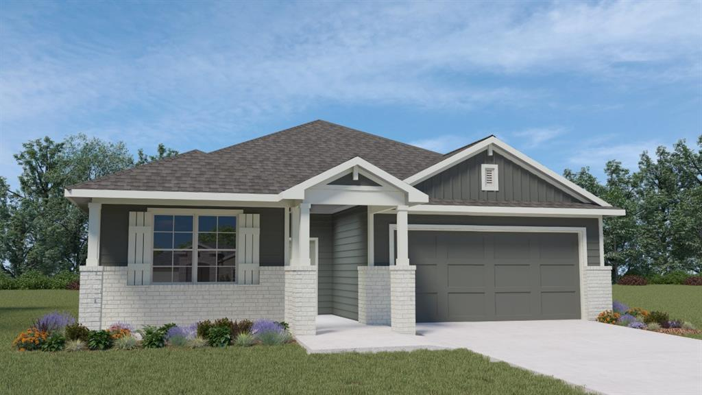 UNDER CONSTRUCTION - EST COMPLETION TBD.  Huge open central living area with granite topped island facing dining and family room.  Four bedrooms all on one very livable level. Bedroom 1 has a generous walk-in closet, double vanity, and tile walk-in shower!  You'll love the community play ground, and the convenient location to charming historic downtown Hutto, and the major connecting thoroughfares to get anywhere easily!  We're 10 minutes to Dell Diamond and Kalahari!